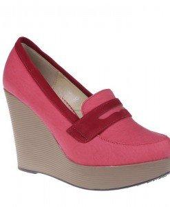 Pantofi platforma Doria rosii - Home > Pantofi -