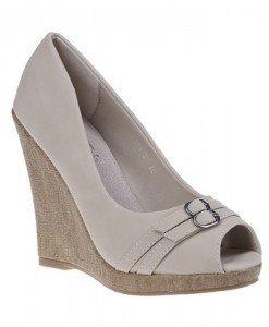 Pantofi platforma Eveline beige - Home > Pantofi -