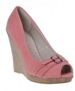 Pantofi platforma Eveline corai - Home > Pantofi -