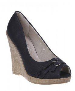 Pantofi platforma Eveline negri - Home > Pantofi -