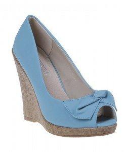 Pantofi platforma Sandra bleu - Home > Pantofi -
