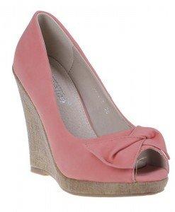 Pantofi platforma Sandra corai - Home > Pantofi -