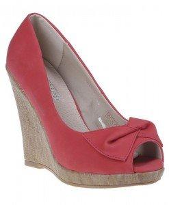 Pantofi platforma Sandra rosii - Home > Pantofi -