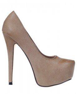 Pantofi platforma Serenity khaki - Home > Pantofi -