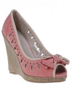 Pantofi platforma Valeria corai - Home > Pantofi -