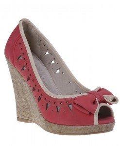 Pantofi platforma Valeria rosii - Home > Pantofi -