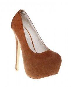 Pantofi platforma camel - Home > Pantofi -