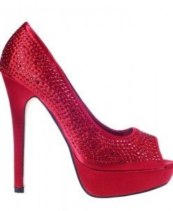 Pantofi rosii decupati Arabella - Home > Pantofi -