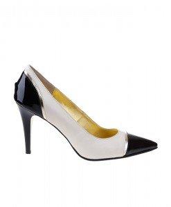 Pantofi stiletto din piele naturala Selena - Home > Pantofi -