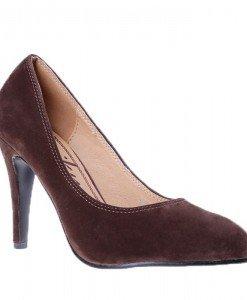 Pantofi toc Emily maro - Home > Pantofi -