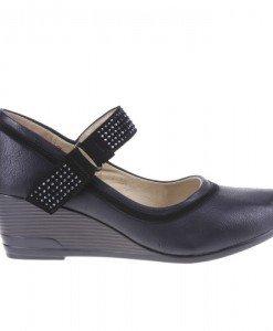 Platforme Monica negre - Home > Pantofi -