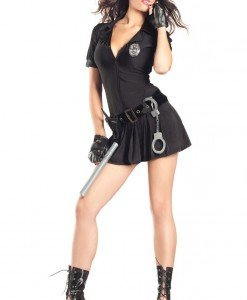 Q243 Costum Halloween politista - Politista - Gangster - Haine > Haine Femei > Costume Tematice > Politista - Gangster