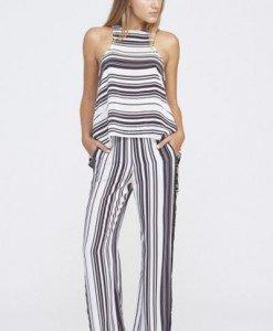 S405-211 Compleu casual din top si pantaloni lungi evazati - Top si pantaloni - Haine > Haine Femei > Compleuri > Top si pantaloni