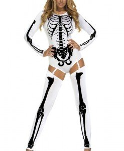 S434-211 Costum tematic Halloween - model anatomic schelet Bad to the bone - Altele - Haine > Haine Femei > Costume Tematice > Altele