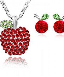 Set de bijuterii cu cristale Swarovski Merisor tres chic - Genti > Bijuterii -