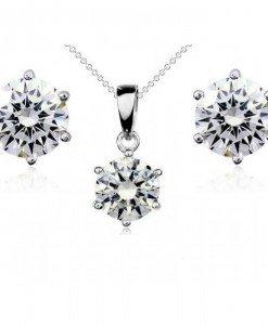 Set de bijuterii cu cristale Swarovski Simple Zirconia - Genti > Bijuterii -