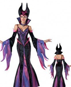 T414 Costum Halloween Vrajitoare - Maleficent - Basme si Legende - Haine > Haine Femei > Costume Tematice > Basme si Legende