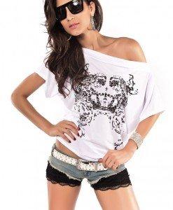 U91 Bluza casual cu imprimeu - Topuri - Haine > Haine Femei > Bluze > Topuri