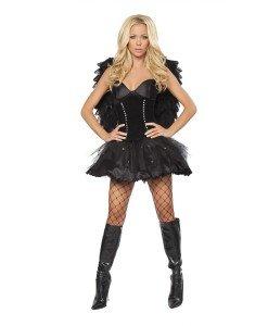 W82 Costum tematic inger negru - Inger & Dracusor - Haine > Haine Femei > Costume Tematice > Inger & Dracusor