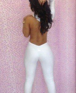 X240-2 Salopeta lunga sexy cu o maneca lunga - Salopete lungi - Haine > Haine Femei > Salopete > Salopete lungi