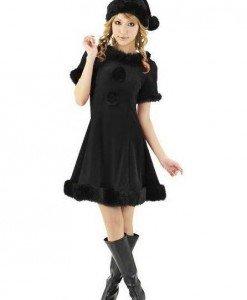XM278-1 Costum cu tematica de Craciun - Miss Black Christmas - Costume de craciunita - Haine > Haine Femei > Costume Tematice > Costume de craciunita