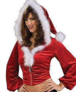 XM323-3 Bluza cu gluga si tematica de Craciun - Costume de craciunita - Haine > Haine Femei > Costume Tematice > Costume de craciunita