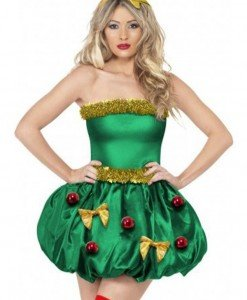 XM331-12 Costum cu tematica de Craciun - Christmas Tree (brad) - Costume de craciunita - Haine > Haine Femei > Costume Tematice > Costume de craciunita