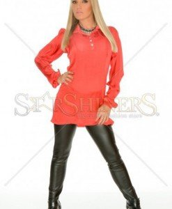 Camasa MissQ Front Shape Red - Camasi -
