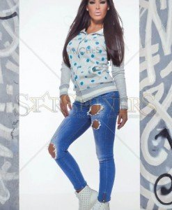Jacheta MissQ Sporty Dots Grey - Jachete -