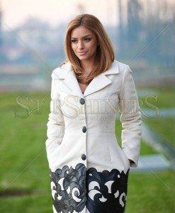 Palton Artista Graceful Freedom Cream - Paltoane -