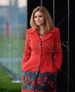Palton Artista Graceful Freedom Red - Paltoane -
