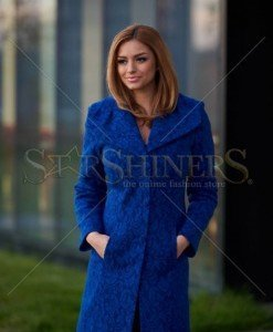 Palton LaDonna Elegant Look Blue - Paltoane -