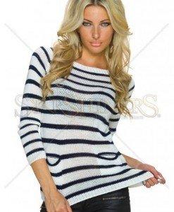 Pulover Spirited Wear White - Pulovere -