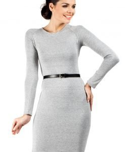 Ashen Seam Shift Dress with Raglan Sleeves - Dresses -