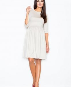 Beige Sassy Full Swing Ruby Dress - Dresses -