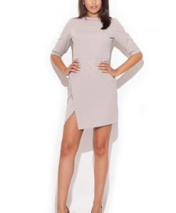 Beige Stunning Skirt Strut Day Dress - Dresses -