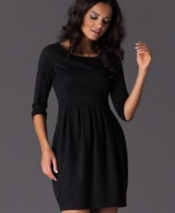 Black Hourly Bodice Hippie Pleat Dress - Dresses -