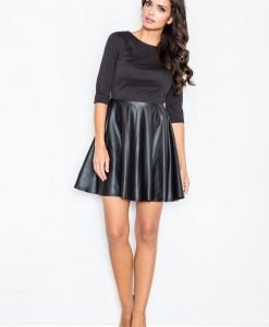 Black Miss Delighted Kelly Skater Dress - Dresses -