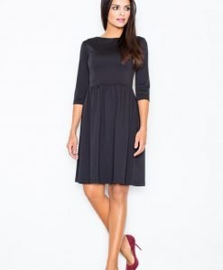 Black Sassy Full Swing Ruby Dress - Dresses -