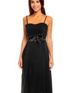 Black Sweet Sling Prom Dress with Stunning Waistband - Dresses -