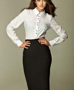 Black Tea-Length Pencil Skirt - Skirts -