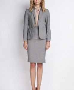 Black&white jacket with shawl collars - Outerwear -