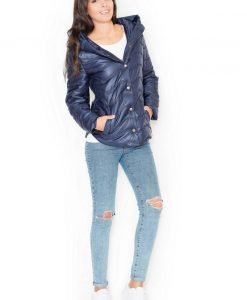 Blue Hooded Bubble Quilted Jacket - Outerwear > Jackets and coats -