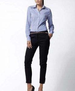 Blue Striped Work Shirt for Women - Shirts > Shirts Long Sleeve -