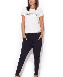 Drop Crotch Stretch Pleated Black Pants - Trousers -