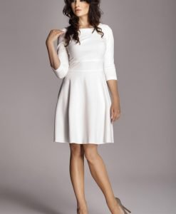 Ecru Giggly Fashion Flared Skirt Dress - Dresses -