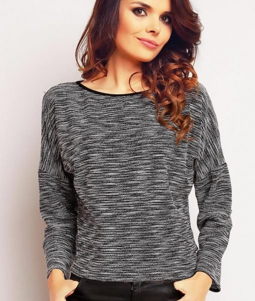 Ecru flecked blouse with slouchy shoulders – Blouses –