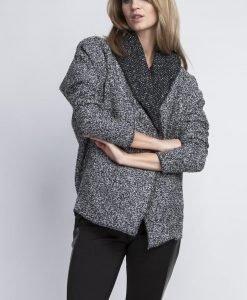Grey Oversize Blazer without Closure - Outerwear > Blazers -
