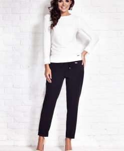 Off White Relaxed Fit Blouse - Blouses > Blouses Long Sleeve -