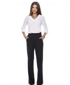 Pantalon elegant negru 5384 - PANTALONI - Pantaloni de zi